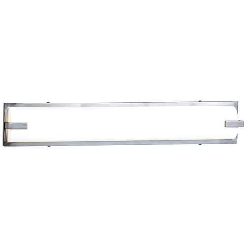 Access Lighting Modern Bathroom Light with White Glass in Brushed Steel Finish 31033-BS/ACR