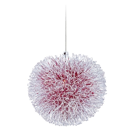 ET2 Lighting Clipp Brushed Aluminum Mini-Pendant Light with Bowl / Dome Shade E94520-93AL