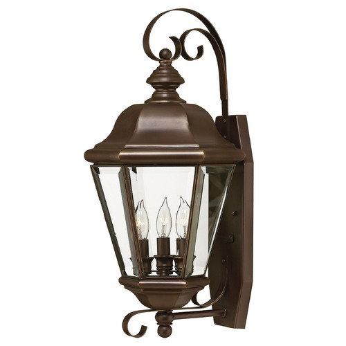 Hinkley Outdoor Wall Light with Clear Glass in Copper Bronze Finish 2426CB