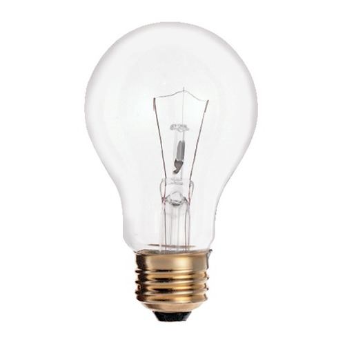 Satco Lighting Incandescent A19 Light Bulb Medium Base 2700K 120V by Satco S2992