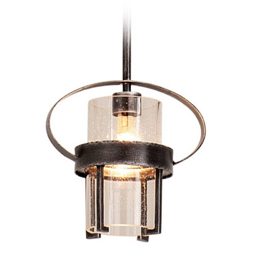 Kalco Lighting Kalco Lighting Bexley Vintage Iron Mini-Pendant Light with Cylindrical Shade 2896VI
