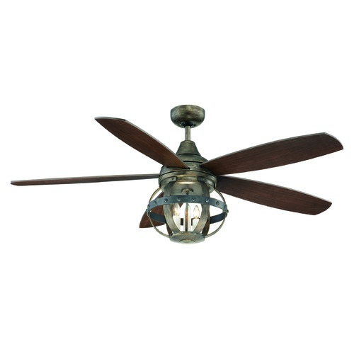 Savoy House Savoy House Lighting Reclaimed Wood Ceiling Fan with Light 52-840-5CN-196