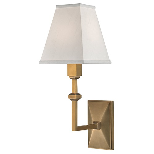 Hudson Valley Lighting Tilden 1 Light Sconce Square Shade - Aged Brass 5500-AGB
