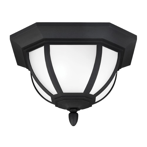 Sea Gull Lighting Sea Gull Lighting Childress Black Close To Ceiling Light 7836302-12
