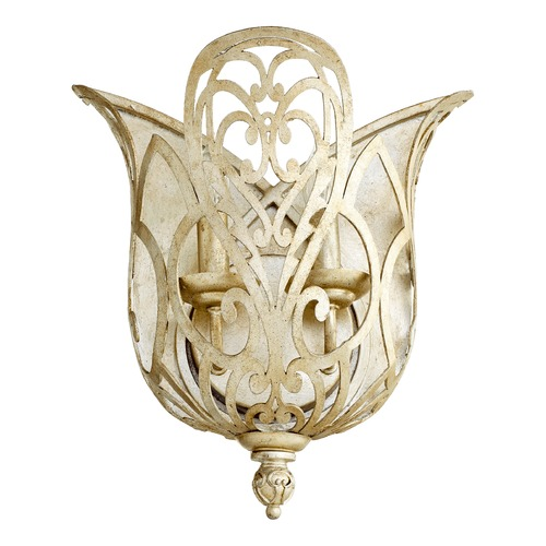 Quorum Lighting Quorum Lighting Le Monde Aged Silver Leaf Sconce 5692-60