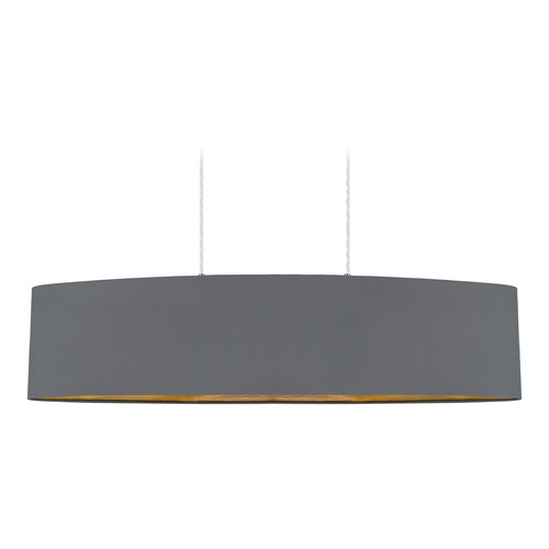 Eglo Lighting Eglo Maserlo Satin Nickel Pendant Light with Oval Shade 31619A