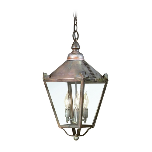 Troy Lighting Outdoor Hanging Light with Clear Glass in Charred Iron Finish F8945CI