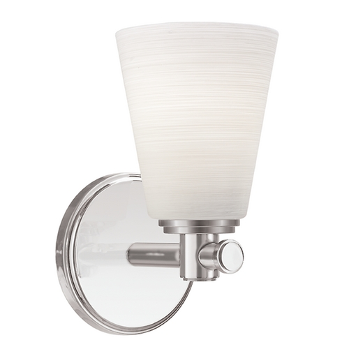 Hudson Valley Lighting Modern Sconce with White Glass in Satin Nickel Finish 1841-SN