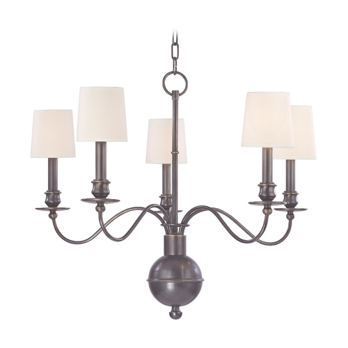 Hudson Valley Lighting Chandelier with Beige / Cream Shades in Old Bronze Finish 8215-OB-WS