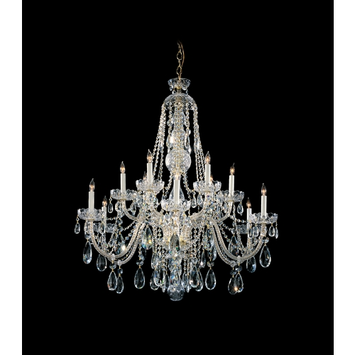 Crystorama Lighting Crystal Chandelier in Polished Brass Finish 1112-PB-CL-S