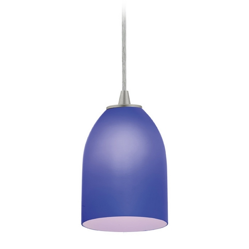Access Lighting Access Lighting Sydney Inari Silk Brushed Steel Mini-Pendant with Oblong Shade 28018-1C-BS/COB