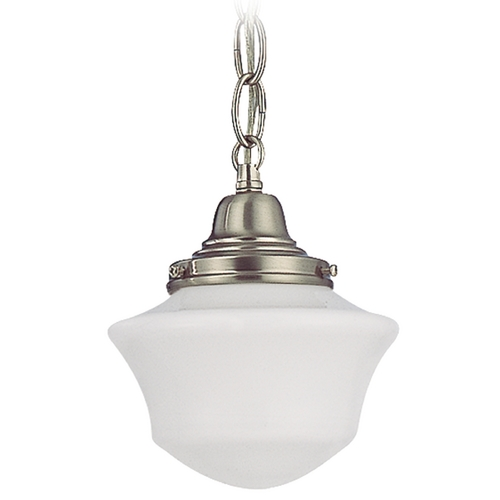 Design Classics Lighting 6-Inch Retro Style Schoolhouse Mini-Pendant Light with Chain FC3-09 / GC6 / B-09