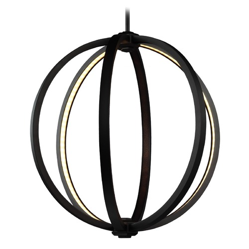 Feiss Lighting Nomi Bronze LED Medium Pendant P1392ORB