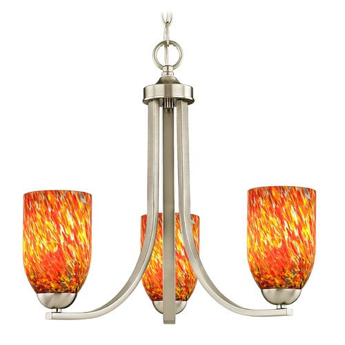 Design Classics Lighting Design Classics Dalton Fuse Satin Nickel Mini-Chandelier 5843-09 GL1012D
