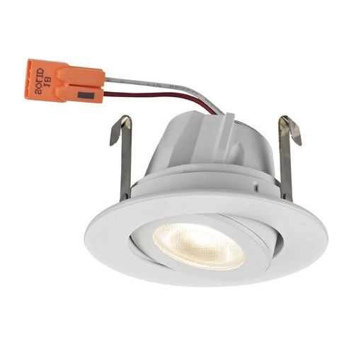 Recesso Lighting by Dolan Designs Adjustable White Gimbal Trim LED Recessed Module for 2-Inch Cans 3000K 680 Lumens T208-WH