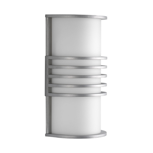 Progress Lighting Progress Modern Outdoor Wall Light with White in Satin Aluminum Finish P5914-16