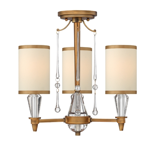 Frederick Ramond Semi-Flushmount Lights in Brushed Bronze Finish FR44501BBZ