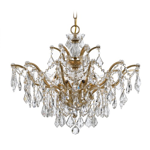 Crystorama Lighting Crystorama Lighting Filmore Antique Gold Crystal Chandelier 4459-GA-CL-S