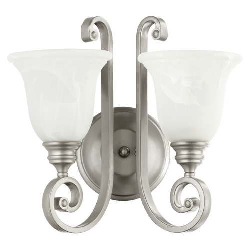 Quorum Lighting Quorum Lighting Bryant Classic Nickel Bathroom Light 5454-2-64