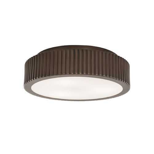 Norwell Lighting Norwell Lighting Roseau Architectural Bronze Flushmount Light 5650-AR-MO