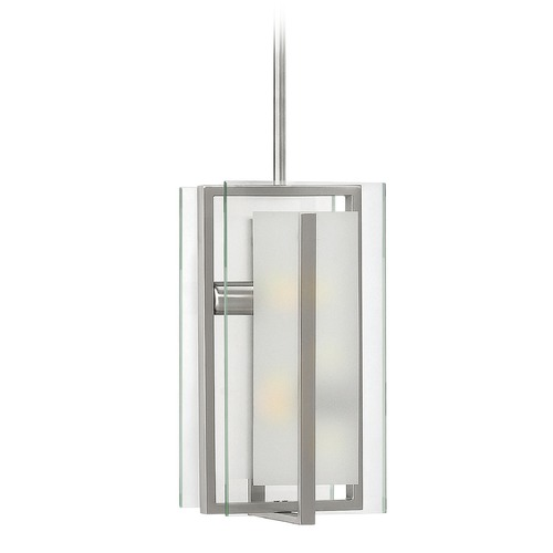 Hinkley Lighting Hinkley Lighting Latitude Brushed Nickel Mini-Pendant Light 3997BN