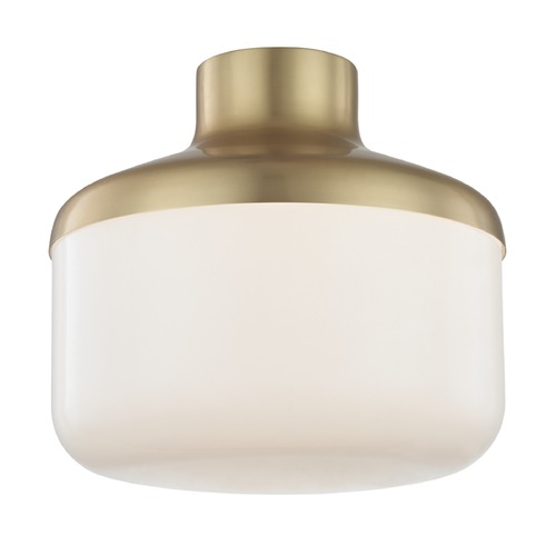 Hudson Valley Lighting Industrial Flushmount Light Brass Mitzi Livvy by Hudson Valley H144501L-AGB