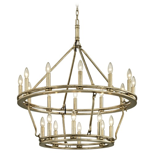 Troy Lighting Troy Lighting Sutton Champagne Silver Leaf Chandelier F6248