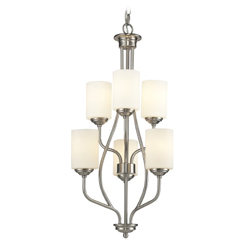 Z-Lite Z-Lite Cardinal Brushed Nickel Mini-Chandelier 434-6-BN