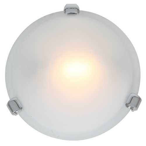 Access Lighting Modern Flushmount Light with White Glass in Chrome Finish 50020-CH/FST