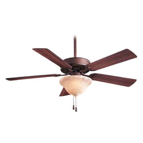 Minka Aire Ceiling Fan with Light with White Glass in Oil Rubbed Bronze Finish F548-ORB/EX