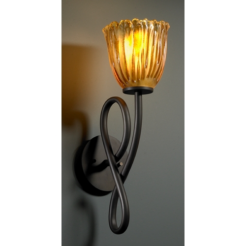 Justice Design Group Justice Design Group Veneto Luce Collection Sconce GLA-8911-56-AMBR-DBRZ