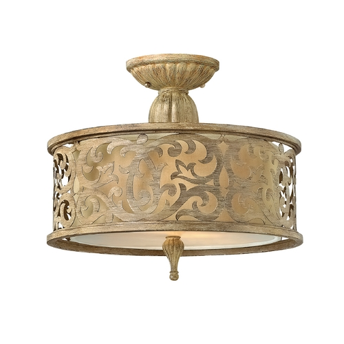 Frederick Ramond Semi-Flushmount Light in Brushed Champagne Finish FR44621BCH