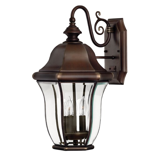 Hinkley Lighting Outdoor Wall Light with Clear Glass in Copper Bronze Finish 2334CB