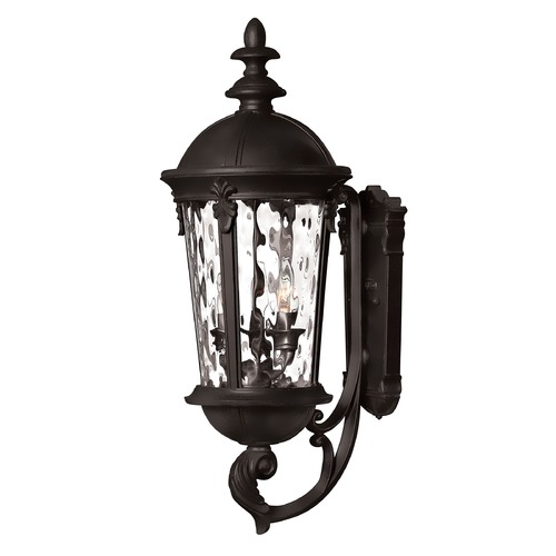 Hinkley Lighting Outdoor Wall Light with Clear Glass in Black Finish 1894BK