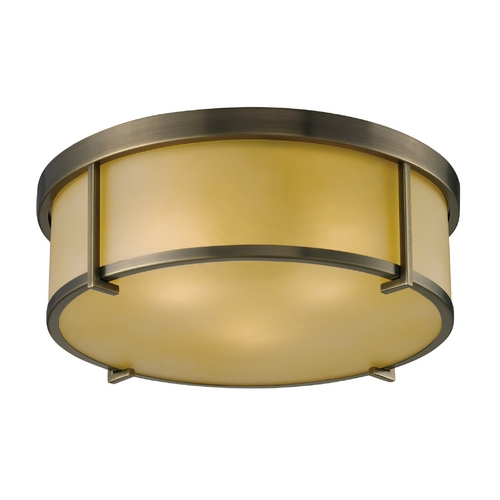 Elk Lighting Modern Flushmount Light in Antique Brass Finish 11485/3