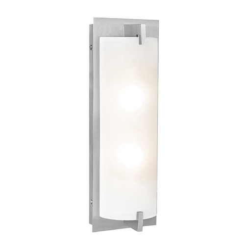 Access Lighting Bo Brushed Steel Bathroom Light - Vertical or Horizontal Mounting C62235BSOPLEN1218BQ