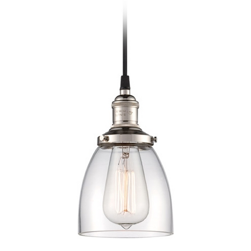 Nuvo Lighting Mini-Pendant Light with Clear Glass 60/5404