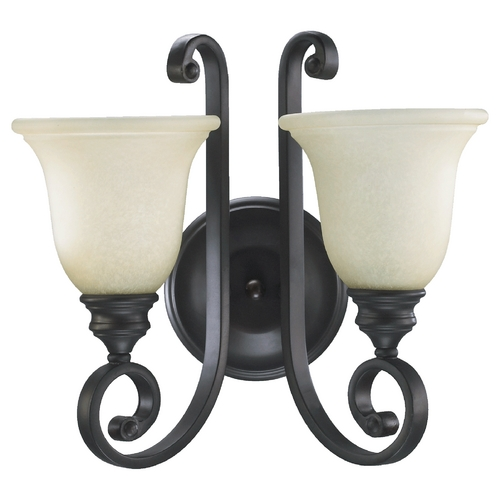 Quorum Lighting Quorum Lighting Bryant Oiled Bronze Bathroom Light 5454-2-86