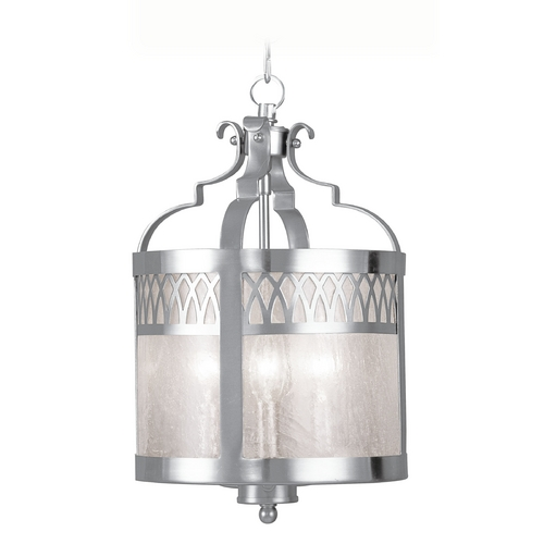 Livex Lighting Livex Lighting Westfield Brushed Nickel Pendant Light with Drum Shade 4733-91