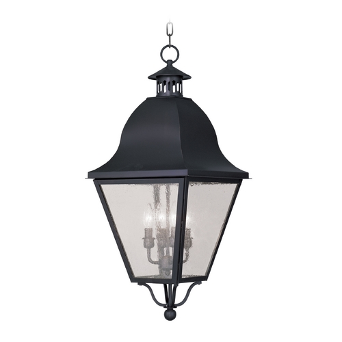 Livex Lighting Livex Lighting Amwell Black Outdoor Hanging Light 2547-04