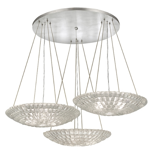 Fine Art Lamps Fine Art Lamps Constructivism Hand-Applied Silver Pendant Light 848640ST