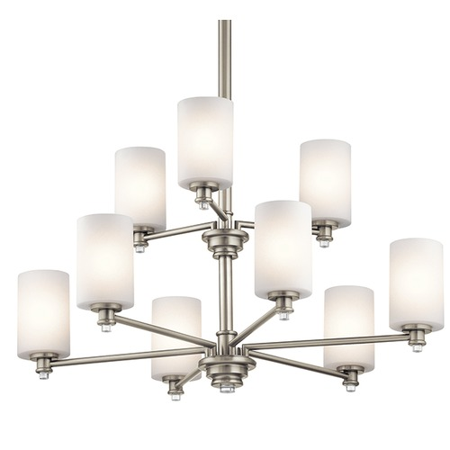 Kichler Lighting Kichler Lighting Joelson Brushed Nickel LED Chandelier 43924NIL16