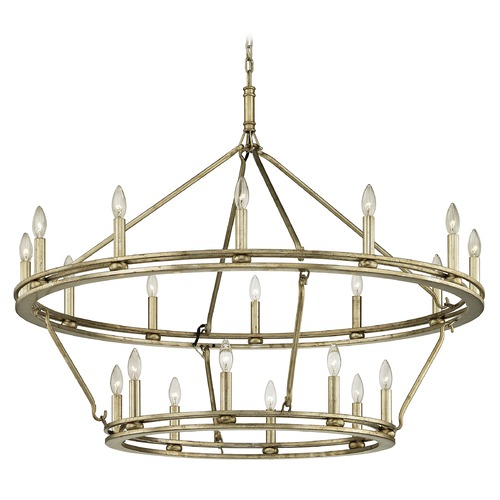 Troy Lighting Troy Lighting Sutton Champagne Silver Leaf Chandelier F6249