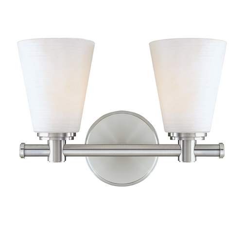 Hudson Valley Lighting Modern Bathroom Light with White Glass in Polished Nickel Finish 1842-PN