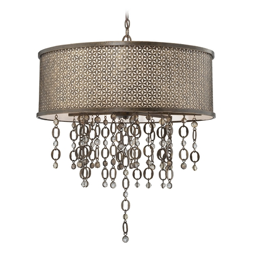 Metropolitan Lighting Drum Pendant Light in French Bronze Finish N6724-258