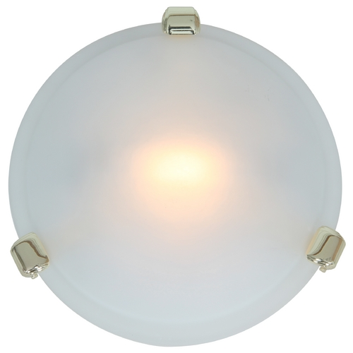Access Lighting Modern Flushmount Light with White Glass in Polished Brass Finish 50020-PB/FST