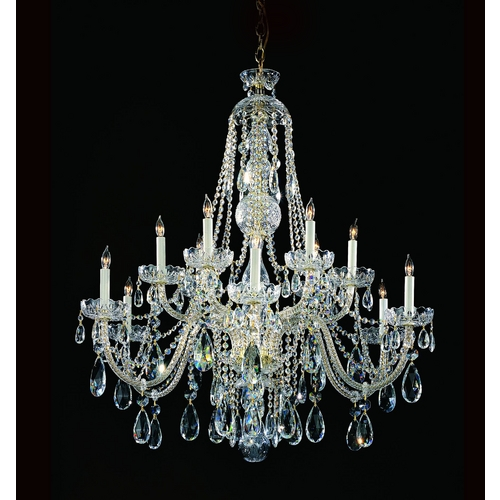 Crystorama Lighting Crystal Chandelier in Polished Chrome Finish 1112-CH-CL-MWP