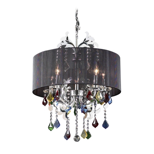 PLC Lighting Modern Crystal Chandelier with Clear Glass in Polished Chrome Finish 34112 PC