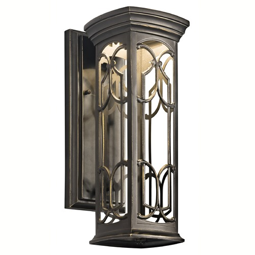 Kichler Lighting Kichler Franceasi 14-1/2-Inch LED Outdoor Wall Light 49226OZLED