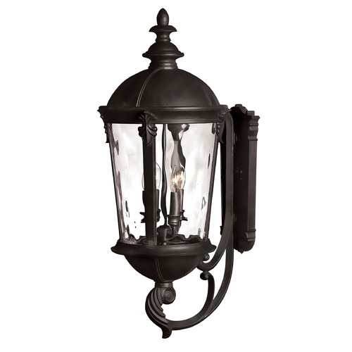 Hinkley Lighting Outdoor Wall Light with Clear Glass in Black Finish 1895BK